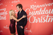 "Kristin Chenoweth and Kevin Quinn arrive at the Los Angeles special screening of Hallmark Channel's ""A Christmas Love Story"" at Montage Beverly Hills on October 21, 2019 in Beverly Hills, California."