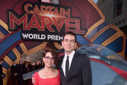 "Director/writer Anna Boden (L) and guest attend the Los Angeles World Premiere of Marvel Studios' ""Captain Marvel"" at Dolby Theatre on March 4, 2019 in Hollywood, California."