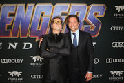 """(L-R) Robert Downey Jr. and Bradley Cooper attend the Los Angeles World Premiere of Marvel Studios' """"Avengers: Endgame"""" at the Los Angeles Convention Center on April 23, 2019 in Los Angeles, California."""