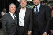 """(L-R) Walt Disney Studios President, Alan Bergman, Chairman, The Walt Disney Studios, Alan Horn, and Bradley Cooper attend the Los Angeles World Premiere of Marvel Studios' """"Avengers: Endgame"""" at the Los Angeles Convention Center on April 23, 2019 in Los Angeles, California."""