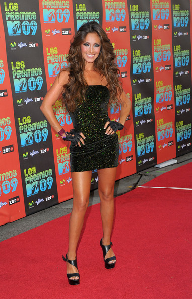 "Singer Anahi arrives at the ""Los Premios MTV 2009"" Latin
