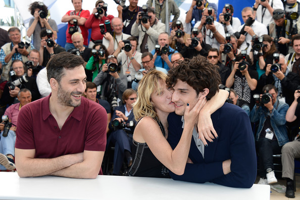'Un Chateau En Italie' Photo Call in Cannes [un chateau en italie,photocall - the 66th annual cannes film festival,people,crowd,audience,event,design,convention,student,may 21,photocall,l-r,actor,palais des festivals,cannes,france,annual cannes film festival]