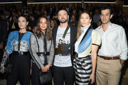 (L-R) Jennifer Connelly, Alicia Vikander, Justin Timberlake, Jessica Biel and Mark Ronson attend the Louis Vuitton Womenswear Spring/Summer 2020 show as part of Paris Fashion Week on October 01, 2019 in Paris, France.