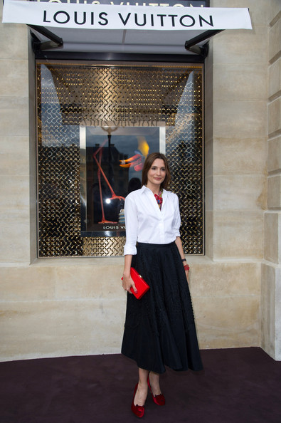 Maria Menounos attends the Louis Vuitton new boutique opening as part of Paris Haute-Couture Fashion Week Fall / Winter 2012/13 at Place Vendome on July 3, 2012 in Paris, France.