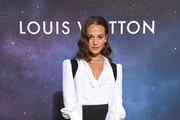 Alicia Vikander attends the Louis Vuitton Stellar Jewelry Cocktail Event at Place Vendome on September 28, 2020 in Paris, France.