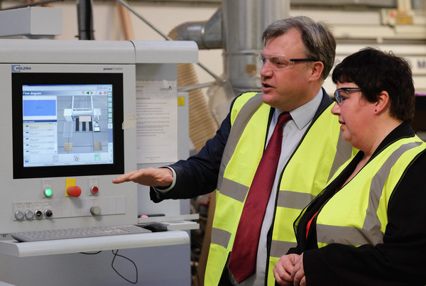 Ed Balls Visits the Cotswold Manufacturing Factory