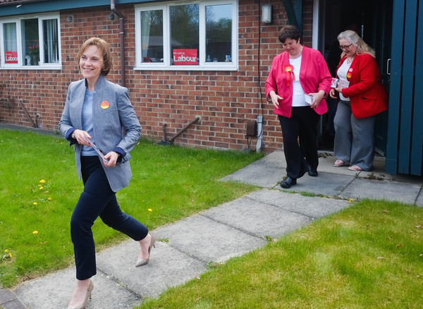 Justine Thornton Hits The Labour Campaign Trail