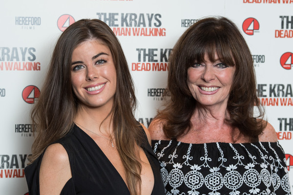 'The Krays: Dead Man Walking' UK Premiere - Red Carpet Arrivals [the krays: dead man walking,hair,hairstyle,premiere,long hair,event,brown hair,little black dress,hair coloring,eyelash,smile,louise michelle,vicki michelle,l-r,uk,england,red carpet arrivals,the genesis cinema,premiere,premiere]
