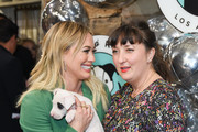 Hilary Duff and Sasha Abelson attend Love Leo Rescue's 2nd Annual Cocktails for a Cause at Rolling Greens Los Angeles on November 06, 2019 in Los Angeles, California.