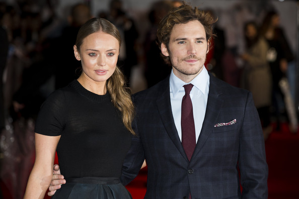 "Laura Haddock and Sam Claflin attend the World Premiere of ""Love, Rosie"" at Odeon West End on October 6, 2014 in London, England."
