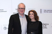 "Tracy Letts and Debra Winger attend the ""The Lovers"" premiere at BMCC Tribeca PAC on April 22, 2017 in New York City."
