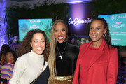 "Robin Thede, Yvonne Orji and Issa Rae attend the Lowkey ""Insecure"" Dinner presented by Our Stories to Tell at Firewood on January 25, 2020 in Park City, Utah."