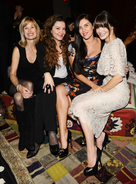 """Private Cocktail Party For The Restored """"Fellini Satyricon"""" Hosted By Dolce & Gabbana At The 50th New York Film Festival [fellini satyricon,fashion,event,dress,fashion design,fun,leg,party,brown hair,little black dress,long hair,r,lucila sola,gisella marengo,coverage,lincoln center,dolce gabbana,cocktail party,new york film festival,cocktail party]"""