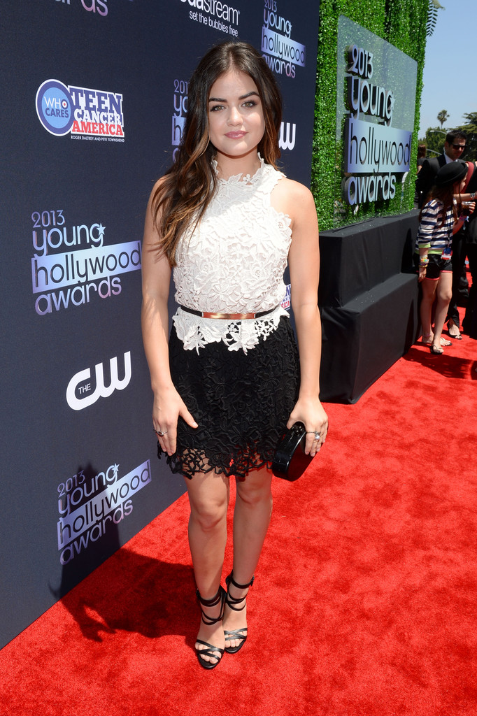 Lucy Hale Makes Lace Look Youthful