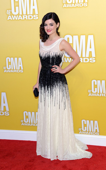 Lucy Hale Singer/actress Lucy Hale attends the 46th annual CMA Awards at the Bridgestone Arena on November 1, 2012 in Nashville, Tennessee.