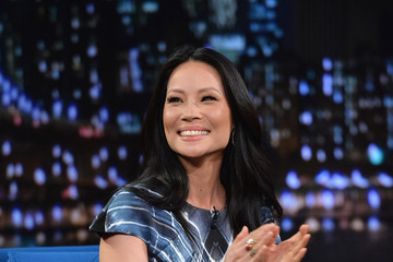 Lucy Liu Celebs Drop by 'Late Night with Jimmy Fallon'