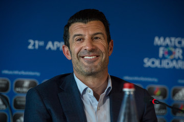 Luis Figo UEFA Match For Solidarity Press Conference