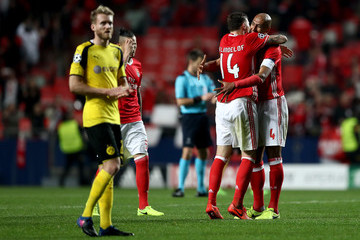 Luisao SL Benfica v Borussia Dortmund - UEFA Champions League Round of 16: First Leg