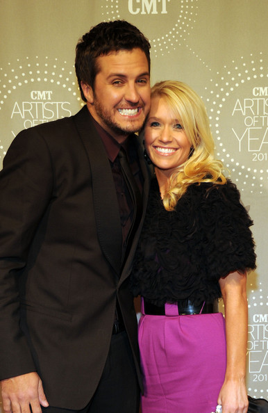 Luke Bryan Recording Artist Luke Bryan and his wife Caroline Bryan
