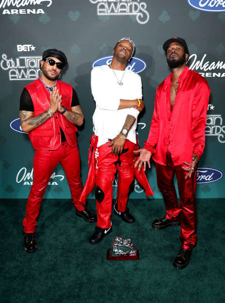 BET Presents: 2019 Soul Train Awards -  Backstage And Audience [red,carpet,suit,performance,audience,luke james,ro james,bj the chicago kid,backstage,l-r,las vegas,nevada,bet,bet presents: 2019 soul train awards]