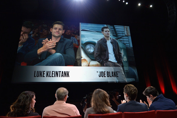 Amazon Original Series 'The Man in the High Castle' Special Screening Event and Q&A - Comic-Con International 2015 [amazon original series,the man in the high castle,event,convention,display device,projection screen,technology,audience,electronic device,media,crowd,presentation,actors,executive producers,david w. zucker,isa dick hackett,luke kleintank,l-r,special screening event,comic-con international]