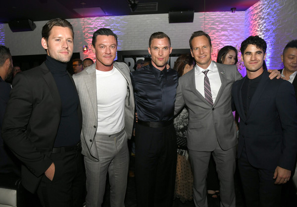 Premiere Of Lionsgates' 'Midway' - After Party [event,suit,formal wear,lionsgates,ed skrein,patrick wilson,darren criss,luke kleintank,l-r,midway,party,premiere,party]