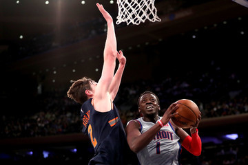 Luke Kornet Detroit Pistons vs. New York Knicks