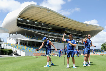 Luke Wright Stuart Broad England and West Indies Nets Session