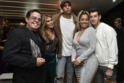 JR Ridinger, Loren Ridinger, Miles Chamley-Watson and La La Anthony attend the Lumiere De Vie Hommes Launch Event Aboard Superyacht Utopia IV on October 13, 2018 in New York City.