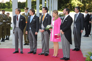 Prince Felix of Luxembourg, Prince Louis of Luxembourg, Prince Sebastien of Luxembourg, Princess Stephanie of Luxembourg and Prince Guillaume of Luxembourg celebrate National Day at the Theatre on June 23, 2014 in Luxembourg, Luxembourg.