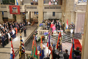 Grand Duchess Maria Teresa, Grand Duke Henri, Princess Stephanie, Prince Guillome, Prince Sebastien, Prince Louis and Prince Felix attend the Te Deum for National Day on June 23, 2014 in Luxembourg, Luxembourg.
