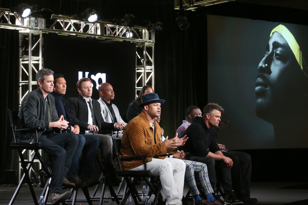 2018 Winter TCA Tour - Day 6 [kyle long,anthony hemingway,lyah beth leflore,creator,actors,guest panelist,co-producer,jimmi simpson,top l-r,event,performance,stage,music,sitting,winter tca]