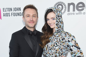 Lydia Hearst Chris Hardwick 27th Annual Elton John AIDS Foundation Academy Awards Viewing Party Sponsored By IMDb And Neuro Drinks Celebrating EJAF And The 91st Academy Awards - Red Carpet