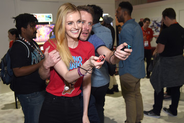 Lydia Hearst Nintendo Hosts Celebrities at 2017 E3 Gaming Convention