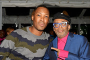 Corey Hawkins (L) and Spike Lee attend the MACRO Pre-Oscar Party 2019 at Casita Hollywood on February 21, 2019 in Los Angeles, California.