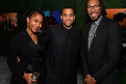 (L-R) Karen Rupert Toliver, Michael Ealy and Matthew A. Cherry attend the 3rd Annual MACRO Pre-Oscar Party on February 06, 2020 in West Hollywood, California.