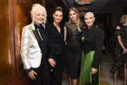 Ellen von Unwerth, Angela Lindvall, Tori Praver and Maye Musk attend MAISON-DE-MODE.COM Sustainable Style Gala at Sunset Tower on February 23, 2019 in Los Angeles, California.