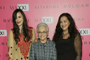 (L-R) Angela Missoni, Rosita Missoni and Teresa Missoni attend the MAXXI Gala Dinner photocall at Maxxi Museum on November 29, 2014 in Rome, Italy.