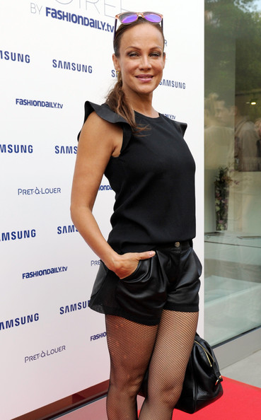 Sonja Kirchberger Attends Samsung Designer Soiree Mercedes Benz Fashion Week