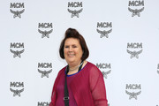 Suzy Menkes attends the MCM Fashion Show Spring/Summer 2019 during the 94th Pitti Immagine Uomo on June 13, 2018 in Florence, Italy.