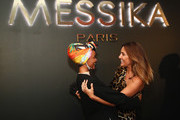 Halima Aden and Valerie Messika attend the MESSIKA Party, NYC Fashion Week Spring/Summer 2019 Launch Of The Messika By Gigi Hadid New Collection at Milk Studios on September 12, 2018 in New York City.