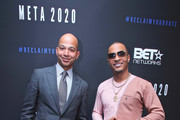 """BET President Scott Mills and T.I. """"TIP"""" Harris attend META - Convened by BET Networks at The Edition Hotel on February 20, 2020 in Los Angeles, California."""