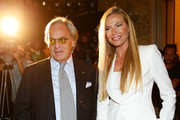 Diego Della Valle and Federica Panicucci attend the Fay show as a part of Milan Fashion Week Womenswear Spring/Summer 2014 on September 18, 2013 in Milan, Italy.