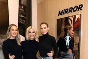 (L-R) Erin Foster, MIRROR Founder & CEO Brynn Putnam, and Sara Foster attend MIRROR Westfield Century City grand opening event at Westfield Century City on November 19, 2019 in Century City, California.