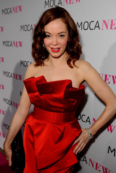 MOCA NEW 30th Anniversary Gala - Red Carpet. In This Photo: Rose McGowan
