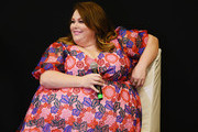 """Chrissy Metz speaks at Q&A for celebration screening of """"Breakthrough"""" hosted by The MOMS at Regal E-Walk on April 09, 2019 in New York City."""