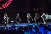 Fifth Harmony performs on stage during the 2014 MTV EMA Kick Off at the Klipsch Amphitheater on November 9, 2014 in Miami, Florida.