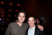 Dylan O'Brien  and Jeff Davis at the MTV Teen Wolf 100th episode screening and series wrap party at DGA Theater on September 21, 2017 in Los Angeles, California.