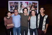 Holland Roden, Russell Mulcahy, Dylan O'Brien, Jeff Davis and Tyler Posey at the MTV Teen Wolf 100th episode screening and series wrap party at DGA Theater on September 21, 2017 in Los Angeles, California.