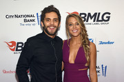 Musician Thomas Rhett (L) and Lauren Gregory attend as Big Machine Label Group celebrates The 49th Annual CMA Awards at Rosewall on November 4, 2015 in Nashville, Tennessee.